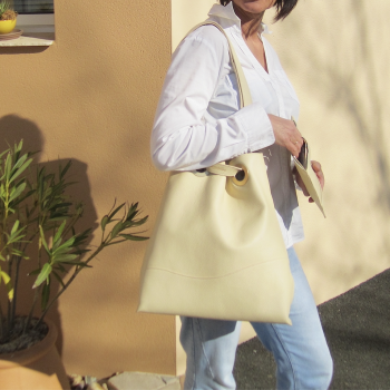 sac cabas cuir de luxe maroquinerie francaise