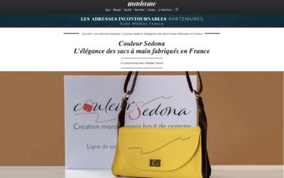 CouleurSedona Création Maroquinerie Française dans Le Magazine Madame.lefigaro.fr