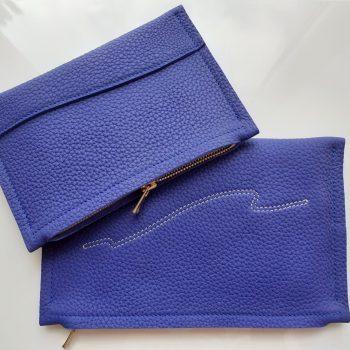 Pochette cuir creation maroquinerie française