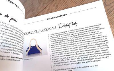 CouleurSedona Maroquinerie dans la Presse Féminine Parisienne – Faust Magazine